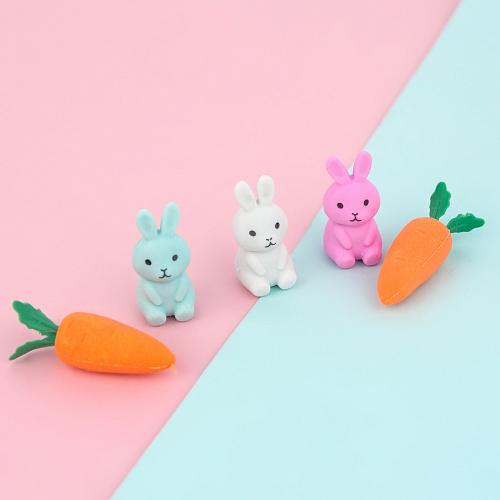 """Набор ластиков """"Зайцы и морковки"""""""